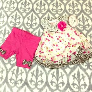 🏝NWT baby's dress and leggings set
